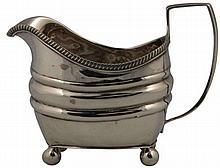 English Hallmarked Sterling Silver George III Cream Jug