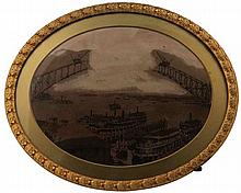 Gilded Oval Picture Frame