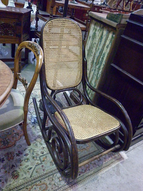 Bentwood Rocking Chair with Cane Seat