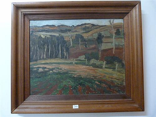 Desiderius Orban, (1884-1986) Landscape oil on canvas 40.0 x 51.0 cmsigned lower left: Orban