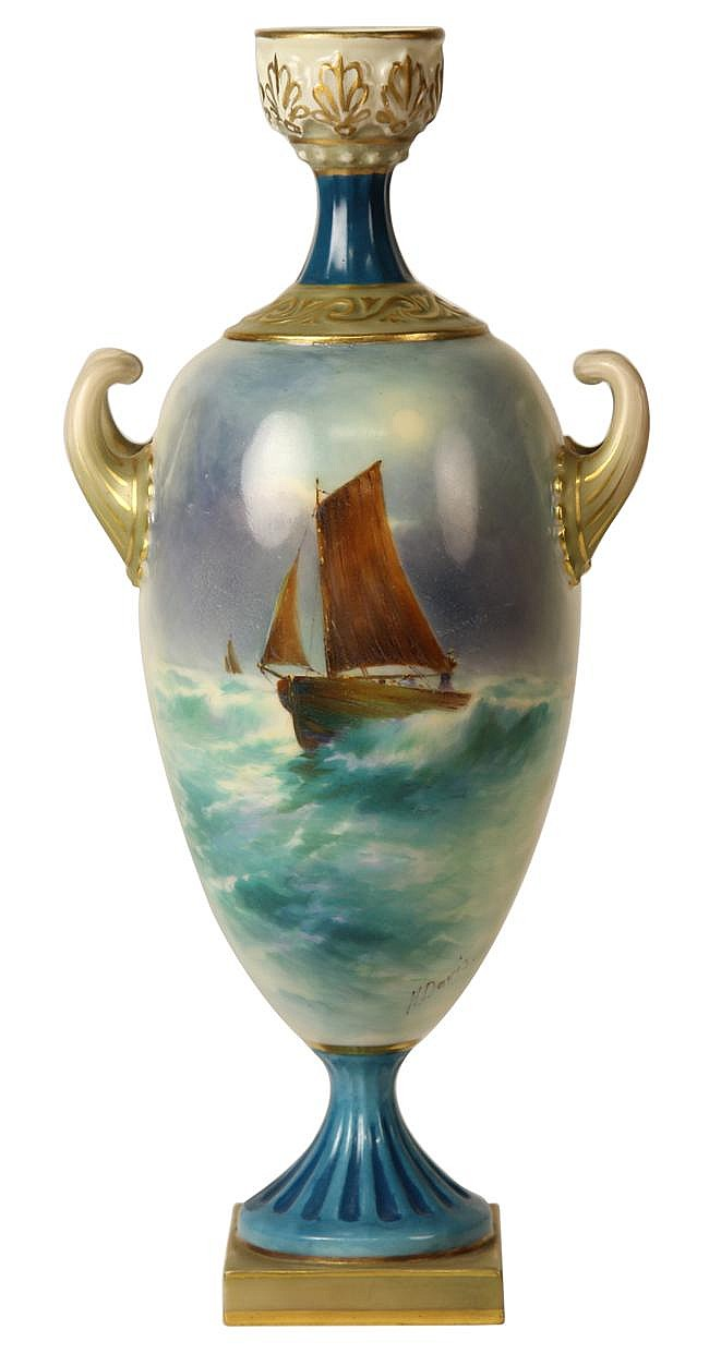 Royal Worcester Vase by Harry Davis
