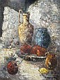 CHRISTOPHE CHARPIDES Still life. Oil on canvas., Christophe Charpides, Click for value