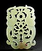 A Green Jade Carved Phoenix Pendant