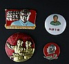 A GROUP OF FOUR CHAIRMAN MAO'S BADGES