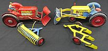 Two Marx Pressed Steel Toy Tractors.