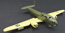 Buddy L Pressed Steel Airplane with Tank.