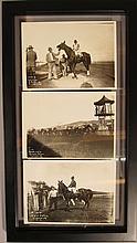 Three 1931 Black and White Horse Racing Photographs.