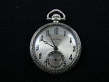 Illinois Watch Co. Open Faced Pocket Watch.