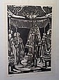 Phillip Ratner Vintage Fine Art B&W; Woodblock Signed In Pencil & #69/100