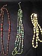 Green beaded designer necklace