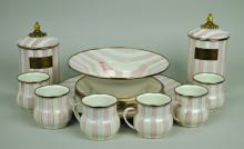 20-PIECE MACKENZIE-CHILDS ENAMELWARE GROUP
