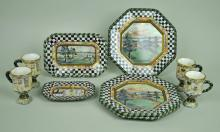 (9) MACKENZIE-CHILDS MACLACHLAN CERAMIC DISHES