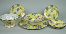 9-PIECE MACKENZIE-CHILDS BUTTERCUP ENAMELWARE