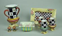 8-PIECE MACKENZIE-CHILDS TABLEWARES GROUP