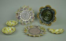 6-PIECE MACKENZIE-CHILDS CERAMICS GROUP