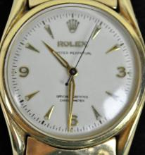 GENT'S ROLEX OYSTER PERPETUAL GOLD CASE WATCH