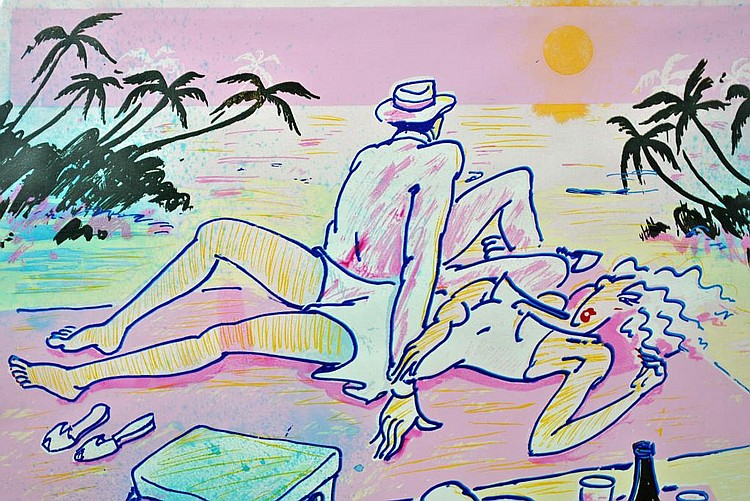 R.J. HOHIMER SERIGRAPH - SUNSET BEACH