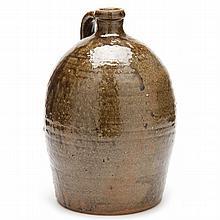 NC Pottery Gallon Jug, Thomas Ritchie (1825-1909, Lincoln County)