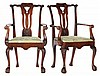 Pair of Antique George II Style Arm Chairs