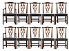 Ten Chippendale Style Dining Chairs by Baker