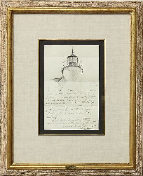 Andrew Wyeth (1917-2009), Letter with Drawing