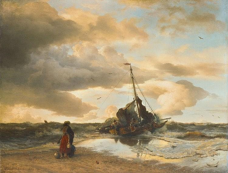 ANDREAS ACHENBACH, RETURN OF THE FISHERMAN