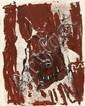 GEORG BASELITZ, Frau im Fenster, 1981