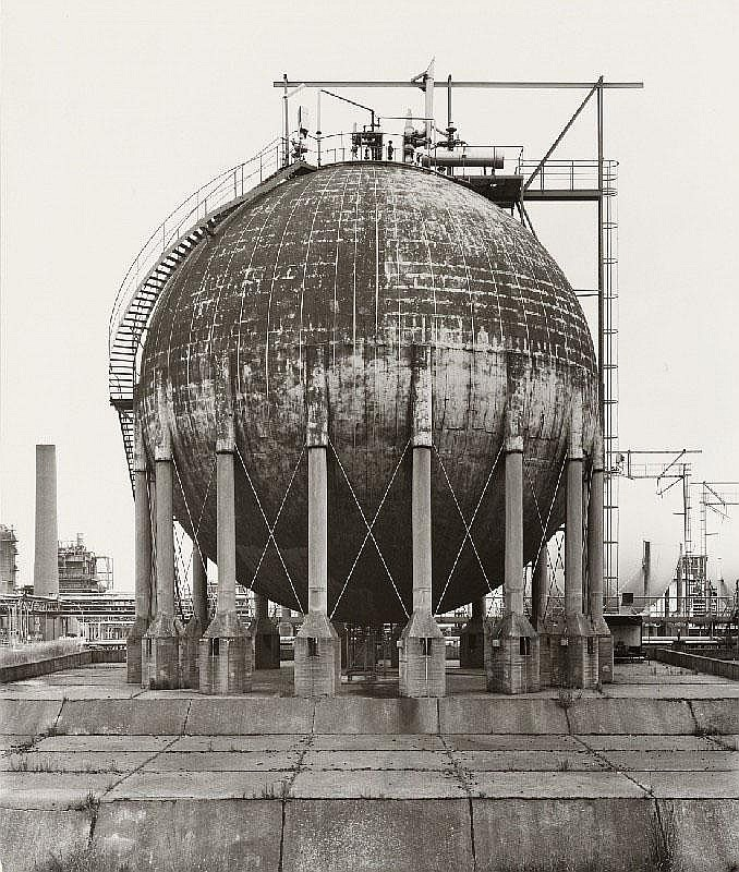 BERND UND HILLA BECHER, Spherical Gas Tank, Wesseling, near Cologne, Germany, 1984