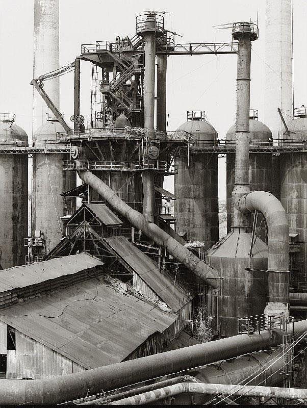 BERND UND HILLA BECHER, Blast Furnace Ensley, Alabama, USA, 1983