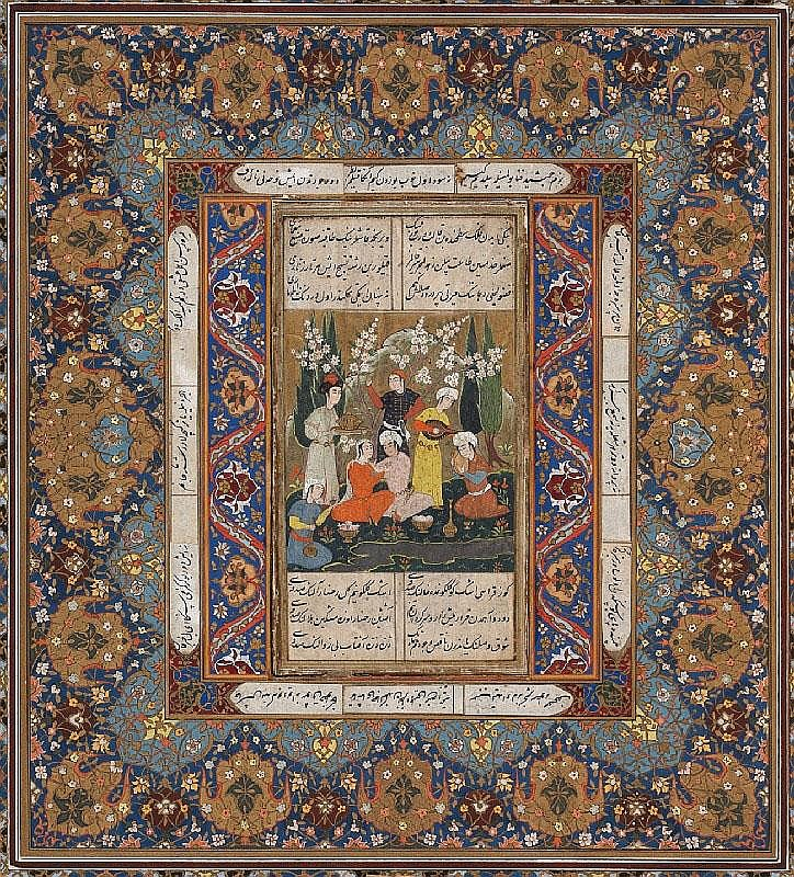 A Persian painting. 19th century or earlier