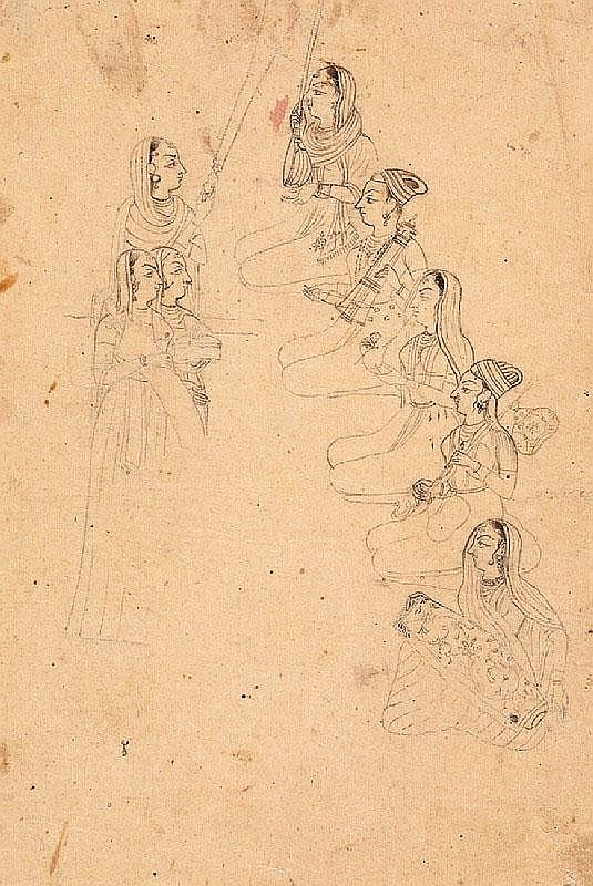 Three drawings. Anonymous. 19th century
