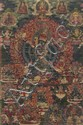 A thangka of  Vajrabhairava in'yab yum'. Tibet. 18th/19th century