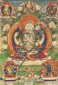 A 'thangka' of Shadakshari-Lokeshvara. Tibet. 19th century
