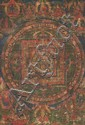 A 'thangka' of Sarvavid Vairochana Mandala. Tibet. 18th/19th century