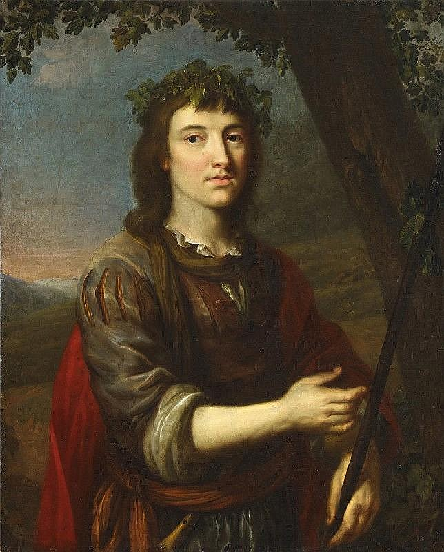 GERRIT VAN HONTHORST, circle of, PORTRAIT OF KARL LUDWIG OF THE PALATINATE AS SHEPHERD, oil on canvas (relined), 93 x 75 cm