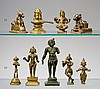 Group of five Indian brass deities. 17th - 20th century
