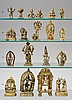 A group of ten Indian brass deities. 18th/20th century