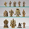 Group of four Indian brass dieties. 19th century or earlier