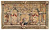 An outstanding museum quality wool and silk tapestry with an allegory of Asia.