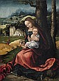 NETHERLANDISH SCHOOL, circa 1515/1520, REST ON THE FLIGHT INTO EGYPT