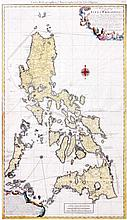George Maurice Lowitz published by Homann Heirs Carte Hydrographique and Chorographique des isles Philippines