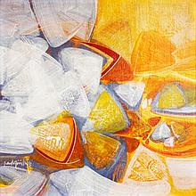 Raul Isidro (1943) Abstract Composition