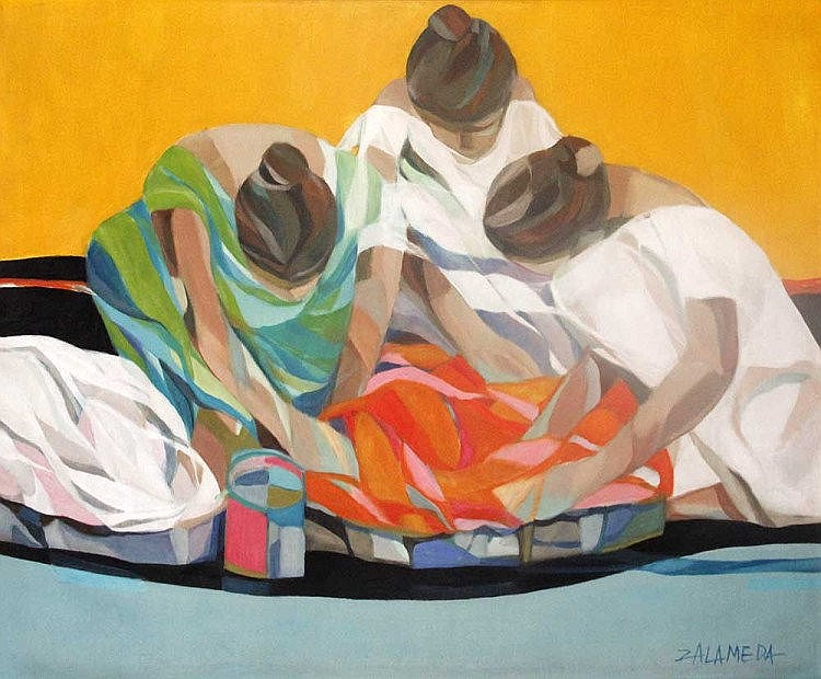 Oscar Zalameda (1930-2010) Tres Lavanderas