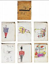 Fernando Zobel Assorted hand-colored drawings