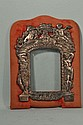 ANTIQUE SILVER & VELVET FRAME