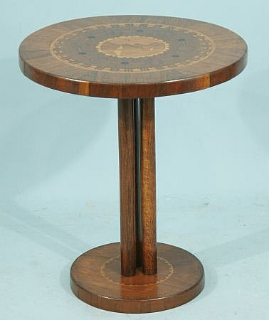 INLAID ART DECO SIDE TABLE, CIRCA 1930
