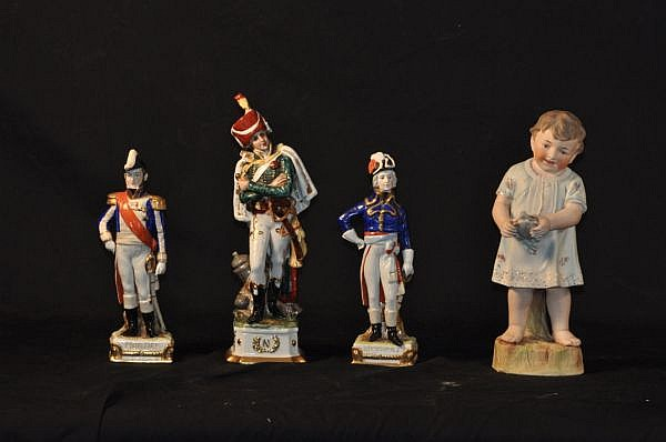 LOT OF FOUR PORCELAIN FIGURES