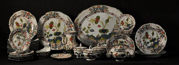 61-PIECES OF FAIENCE DINNERWARE, IMOLA, ITALY
