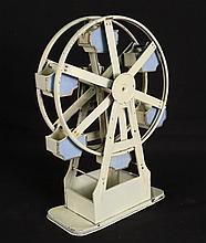 Vintage Tin Ferris Wheel open gondolas wind works