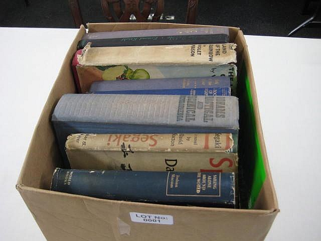 Box of 17 Books, Worth Inspection